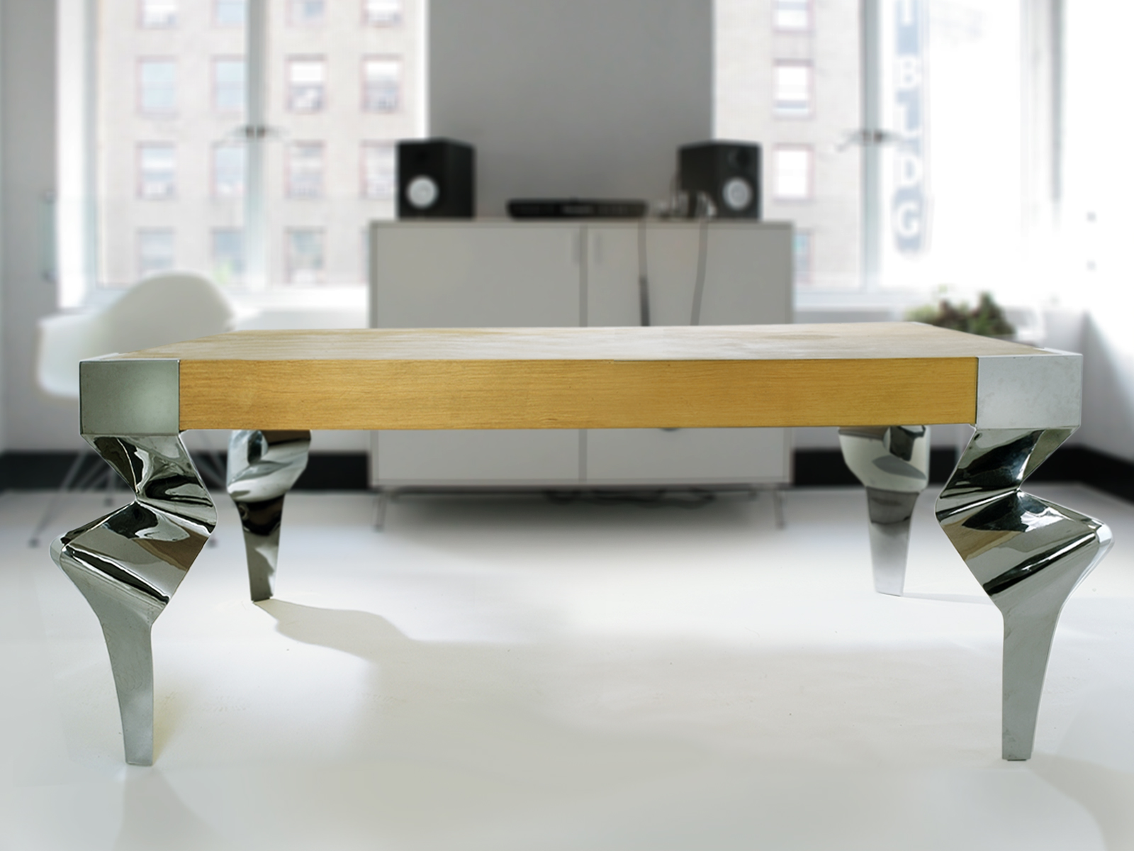 individueller designertisch exklusive handarbeit repr sentatives einzelst ck in 22303. Black Bedroom Furniture Sets. Home Design Ideas