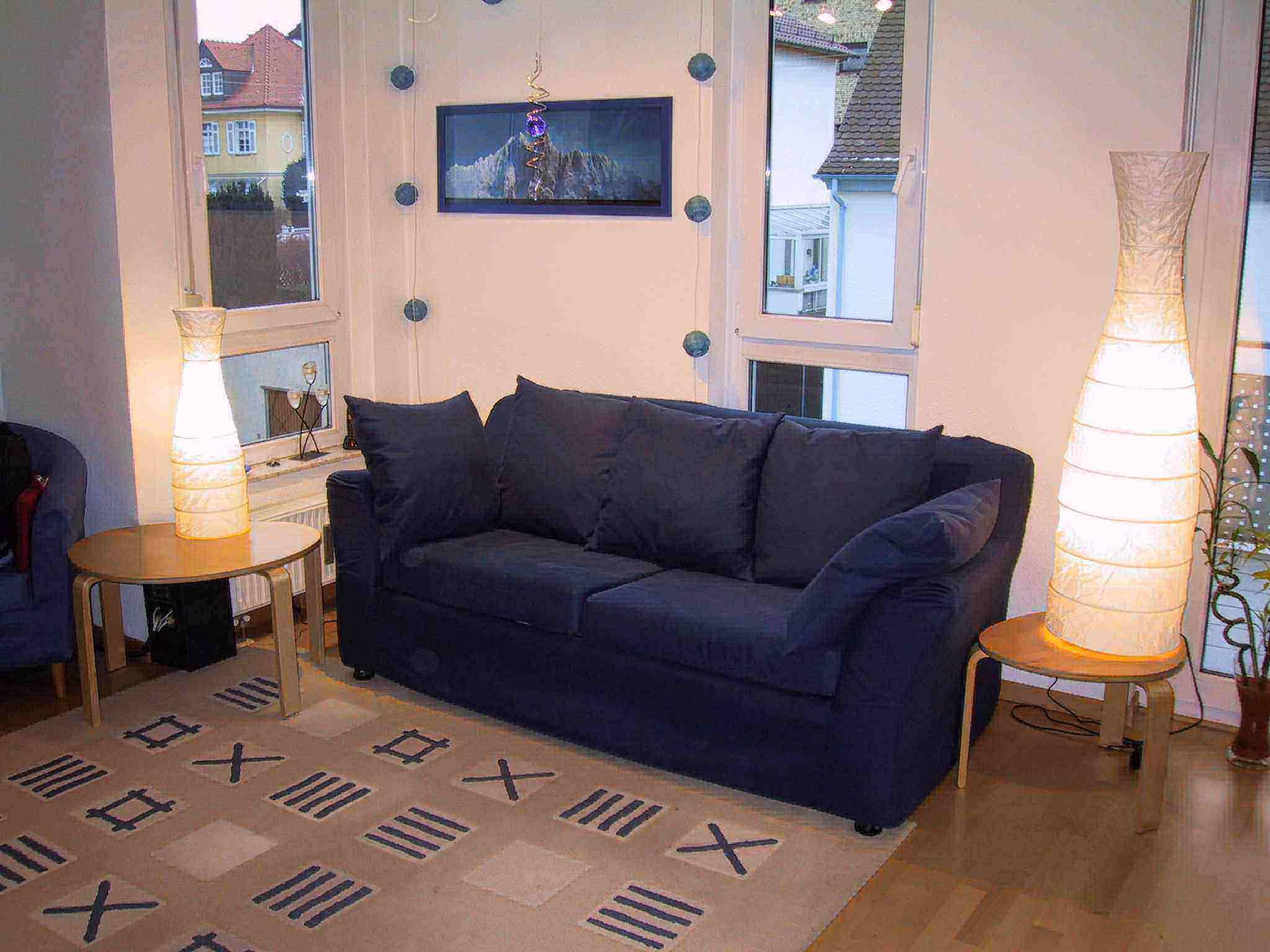schlafsofa blau zweisitzer in 71636 ludwigsburg polster sessel couch. Black Bedroom Furniture Sets. Home Design Ideas