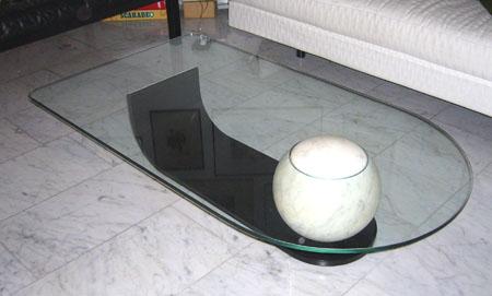 Raffinierter glastisch in ch 6004 luzern stilm bel - Glastisch oval ...