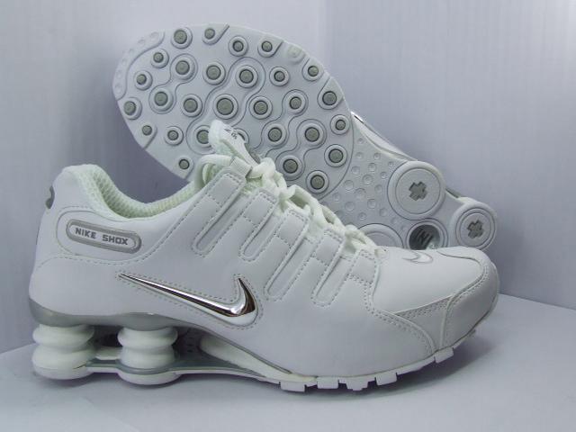 Nike Shox Damen Weiß Gold