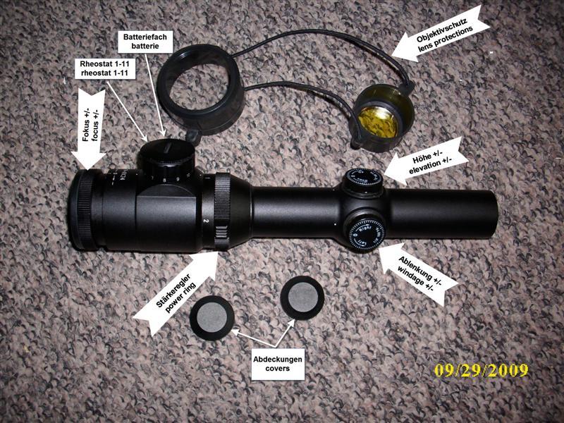 Zielfernrohr fuer drueckjagd in sehlde optik mikroskope