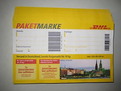 100 dhl paketmarken bis 10kg frei jeweils zu 20 stueck abzugeben in magdeburg dienstleistungen. Black Bedroom Furniture Sets. Home Design Ideas