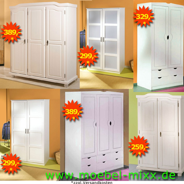 kleiderschrank weiss 2 oder 3 tuerig massivholz in 22339 hamburg sonstige schlafzimmerm bel. Black Bedroom Furniture Sets. Home Design Ideas