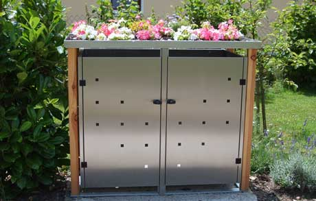 verstecken sie ihre m lltonnen in einer 4use m lltonnenbox. Black Bedroom Furniture Sets. Home Design Ideas