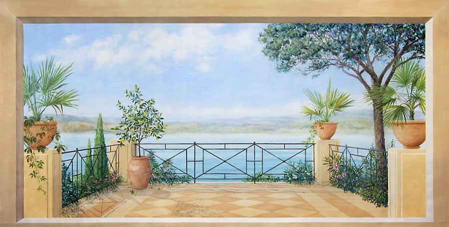 wandmalerei illusonsmalerei raumgestaltung von atelier. Black Bedroom Furniture Sets. Home Design Ideas