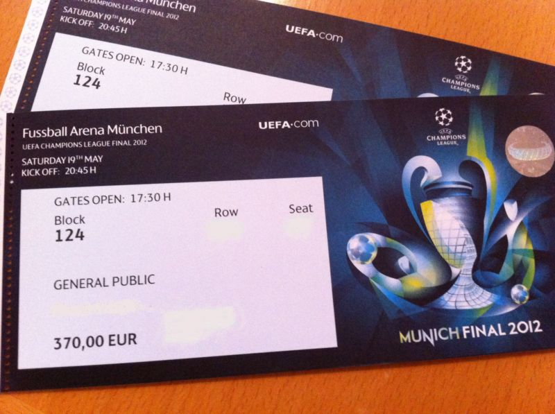 tickets championsleague finale