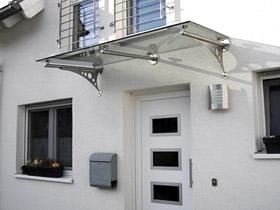 vordachhalter aus edelstahl und zubeh r f r glas vordach. Black Bedroom Furniture Sets. Home Design Ideas